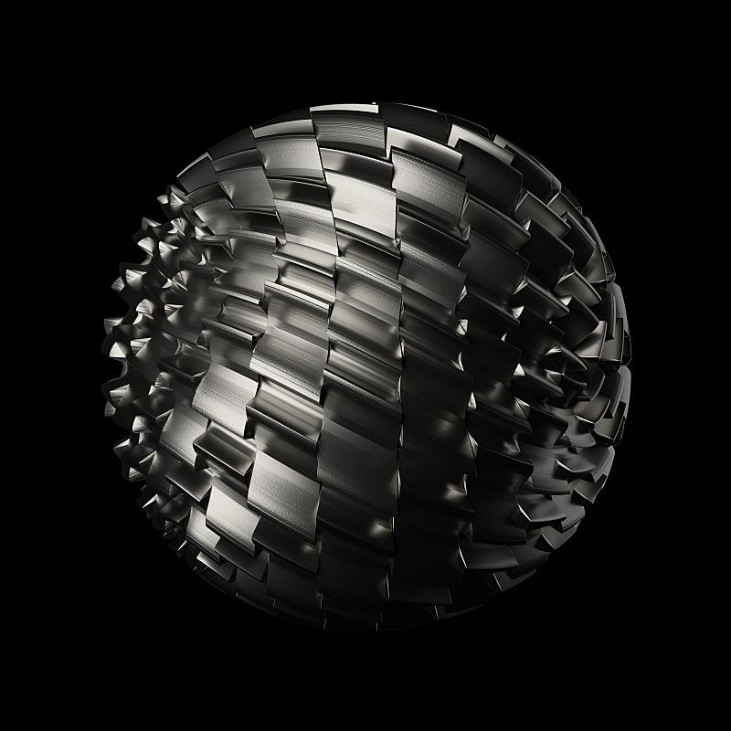 球体,机会,金属,式样,形状,噪声,几何形状,铬合金,概念象征,瓷砖
