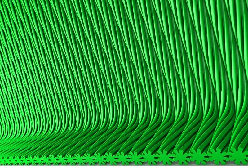 三维图形,绘画插图,形状,体积,水面,概念,绿色,极简构图,庆祝,花