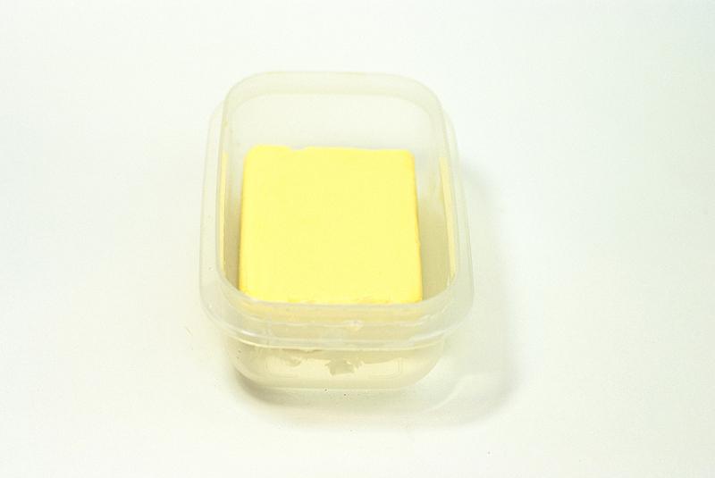 黄油,白色背景,饮食,奶制品,水平画幅,无人,背景分离,特写,影棚拍摄,白色