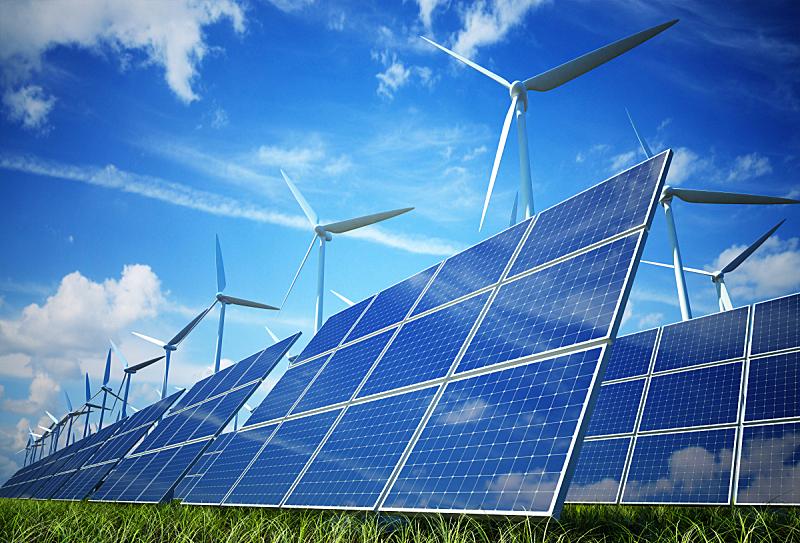 替代能源,风轮机,太阳能发电站,盘子,太阳能,环境保护,工业,电,风力,做