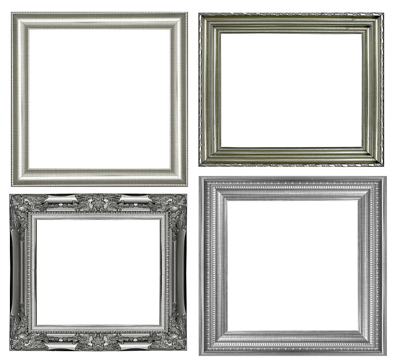 银色,白色背景,相框,分离着色,边框,艺术,水平画幅,绘画艺术品,木制,无人