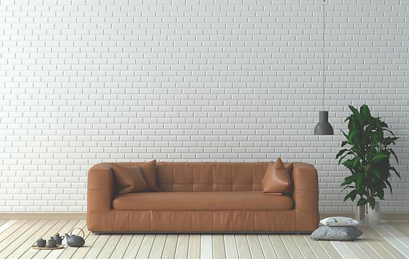 扶手椅,绘画插图,三维图形,起居室,室内设计师,家具,极简构图,格子花纹,花瓶,褐色