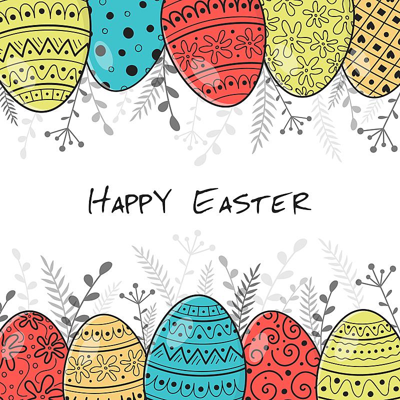 贺卡,复活节,鸡蛋,矢量,手,华丽的,边框,复活节兔子,复古风格,古典式