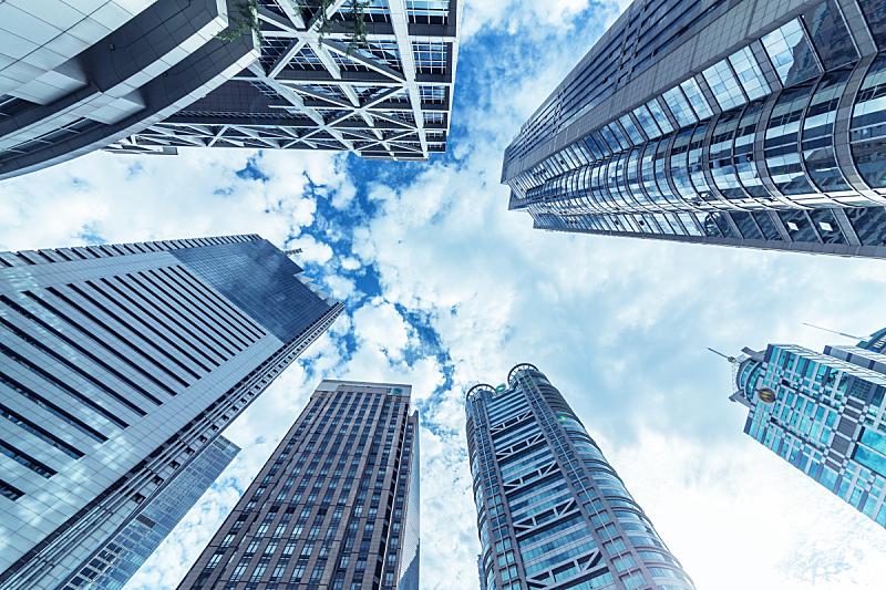 陆家嘴,商务,上海,建筑外部,向上看,浦东,豪宅,商务旅行,天空,未来