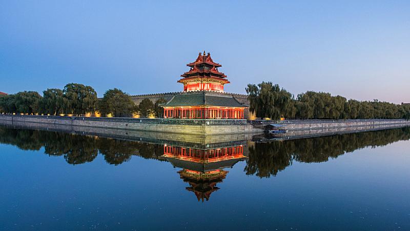 故宫,北京,清朝,纪念碑,水,古典式,过去,都市风景,国际著名景点,过时的