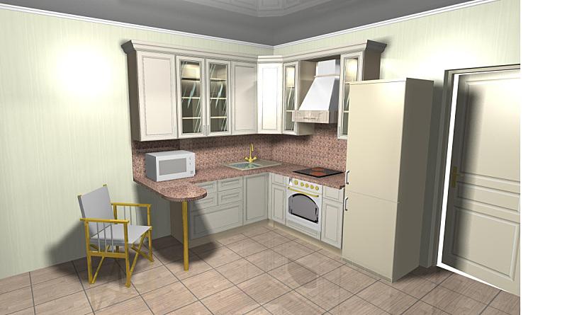 米色,厨房,室内设计师,水平画幅,墙,无人,椅子,抽油烟机,玻璃,微波炉