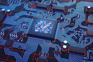 电路板,格子,蓝色,红色,电脑芯片,主机,纳米技术,密码,投影屏幕,液晶显示