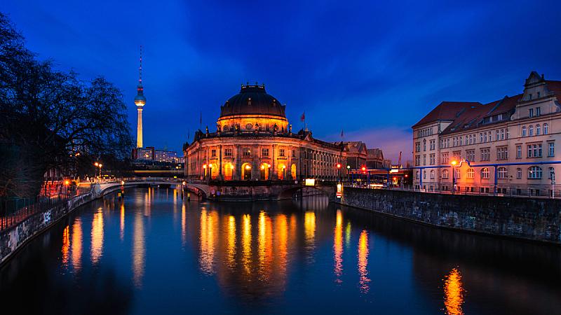 柏林,尼古拉小区,施普河,外立面,水平画幅,无人,夏天,户外