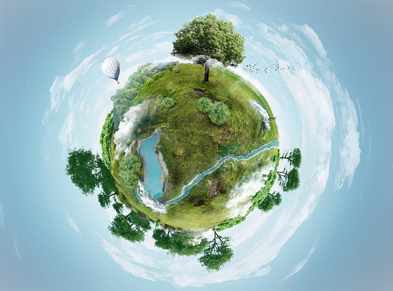 行星,绿色,天空,风,水平画幅,形状,枝繁叶茂,无人,重新造林,绘画插图