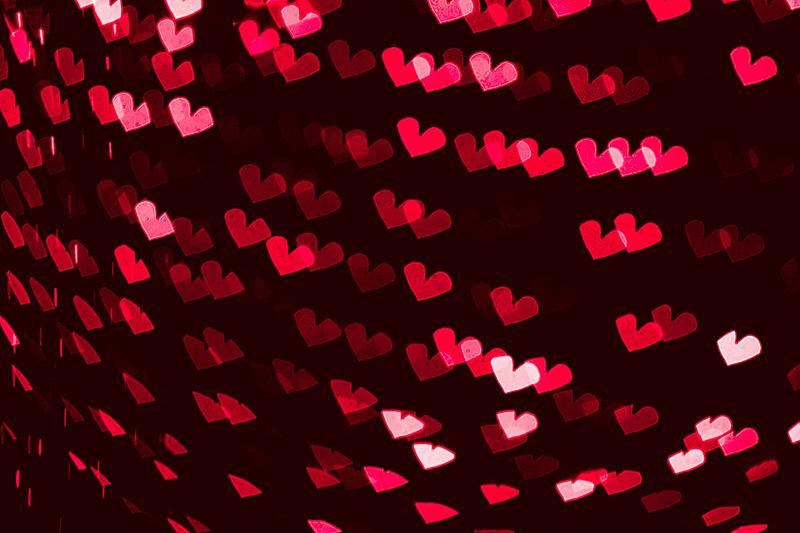 色彩鲜艳,背景虚化,心型,俄亥俄河,美,式样,水平画幅,形状,机织织物,夜晚