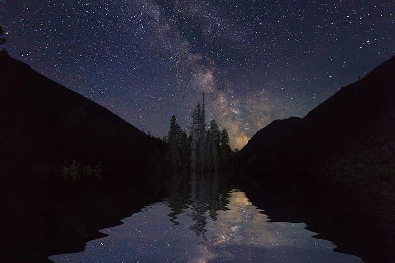 夜晚,山,地形,星星,非凡的,水平画幅,雪,无人,月亮,科学