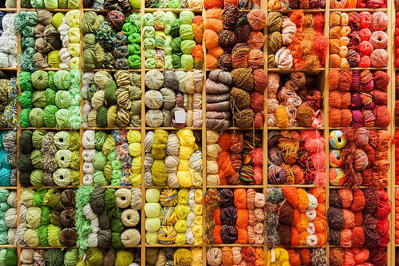 羊毛,山,钩编,羊毛线球,正面视角,水平画幅,纺织品,无人,纤维,商店