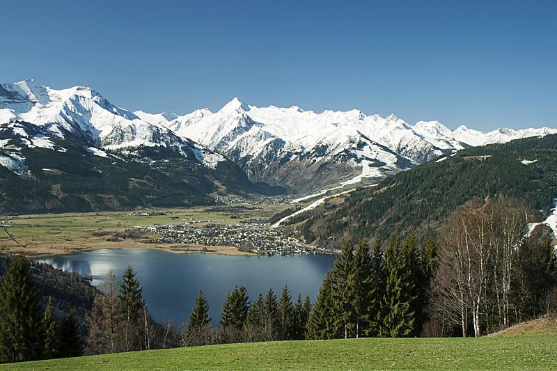 风景,水,天空,美,水平画幅,雪,无人,户外,萨尔茨堡州,湖