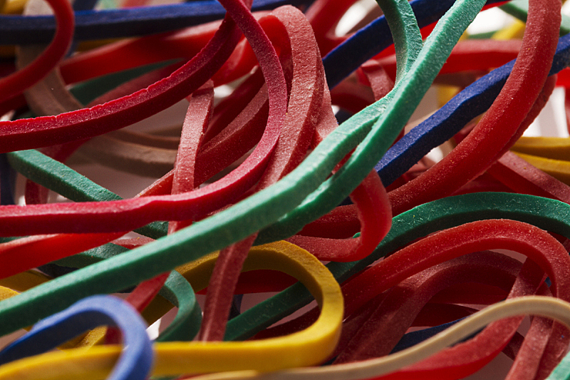 颜色,橡皮擦,塑料圈,图像聚焦技术,选择对焦,红色,水平画幅,无人,蓝色,黄色