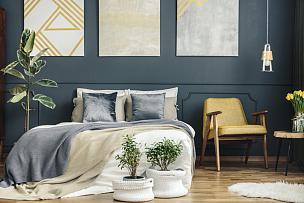 椅子,卧室,40-80年代风格复兴,家庭生活,灯,家具,明亮,居住区,现代,白色