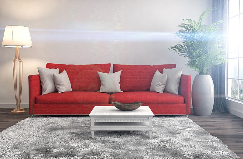 沙发,室内,绘画插图,三维图形,座位,水平画幅,无人,装饰物,家具,舒服