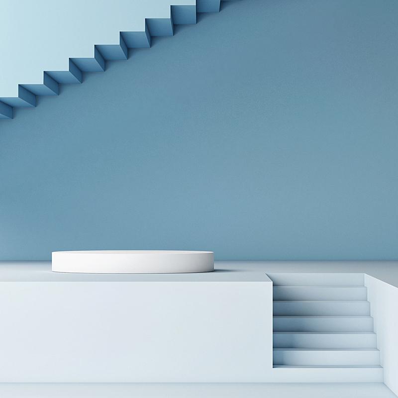 领奖台,室内,抽象,楼梯,空的,几何形状,竞技场,地板,底座,模板