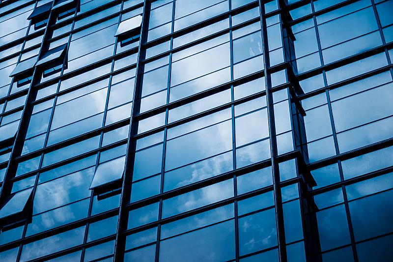 建筑业,大特写,上海,玻璃,特写,办公室,外立面,水平画幅,纹理效果,无人