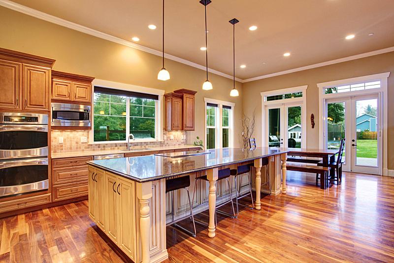 室内,华贵,厨房,房屋,窗户,住宅房间,水平画幅,吧椅,建筑,无人