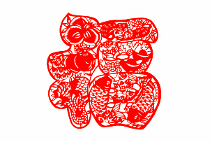 运气,传统,春节,艺术,符号,花窗格,装饰
