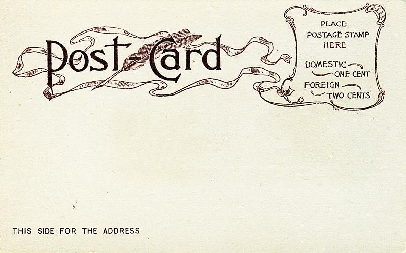 古董,明信片,太空,褐色,水平画幅,19世纪风格,无人,古典式,信函,白色