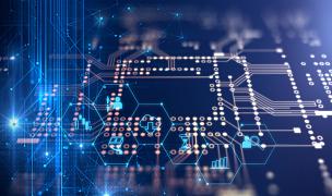 电路板,未来,蓝色,三维图形,母板,中央处理器,电脑芯片,复杂性,水平画幅,高视角