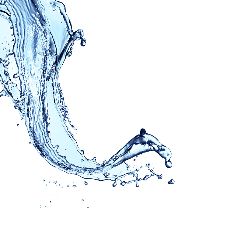 蓝色,饮用水,白色背景,分离着色,垂直画幅,水,无人,抽象,湿,纯净