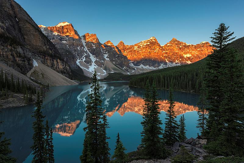 班夫国家公园,加拿大,梦莲湖,自然美,翡翠湖,露易斯湖,卡尔加里,冰碛,贾斯珀国家公园,勒马前行