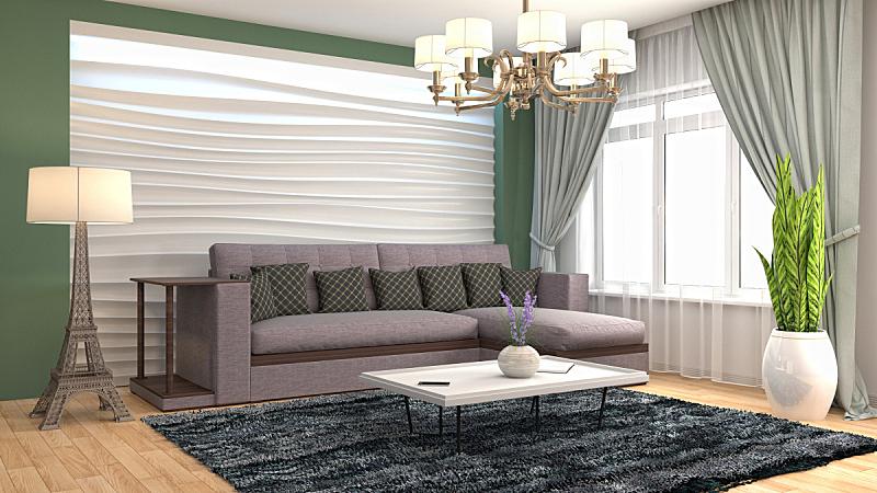 室内,起居室,绘画插图,三维图形,普罗旺斯,扶手椅,褐色,座位,水平画幅,无人