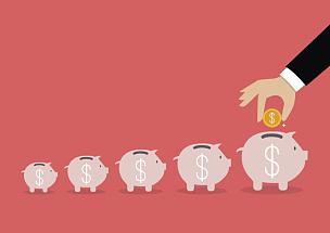 小猪扑满,台阶,手,商务,储蓄,金融和经济,数,猪,财务项目,身体关注