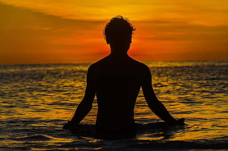 瑜伽,自然,水平画幅,彩色图片,无人,2015年,户外,海洋,日落,摄影