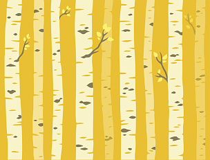 式样,秋天,白杨类,美,公园,艺术,水平画幅,无人,绘画插图,四方连续纹样