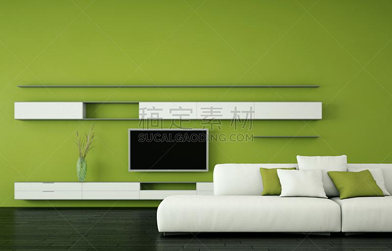沙发,现代,白色,明亮,室内设计师,住宅房间,茶几,华贵,砖,小毯子