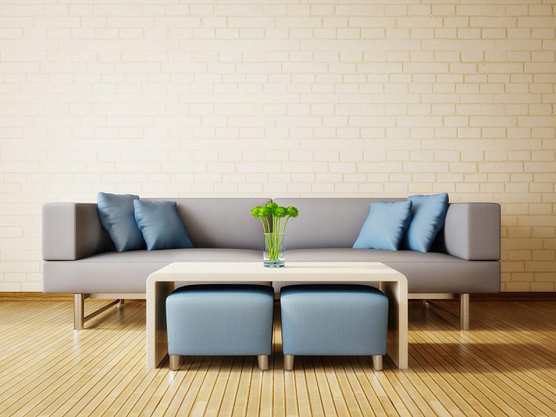 住宅房间,水平画幅,建筑,无人,椅子,蓝色,装饰物,舒服,公寓,现代