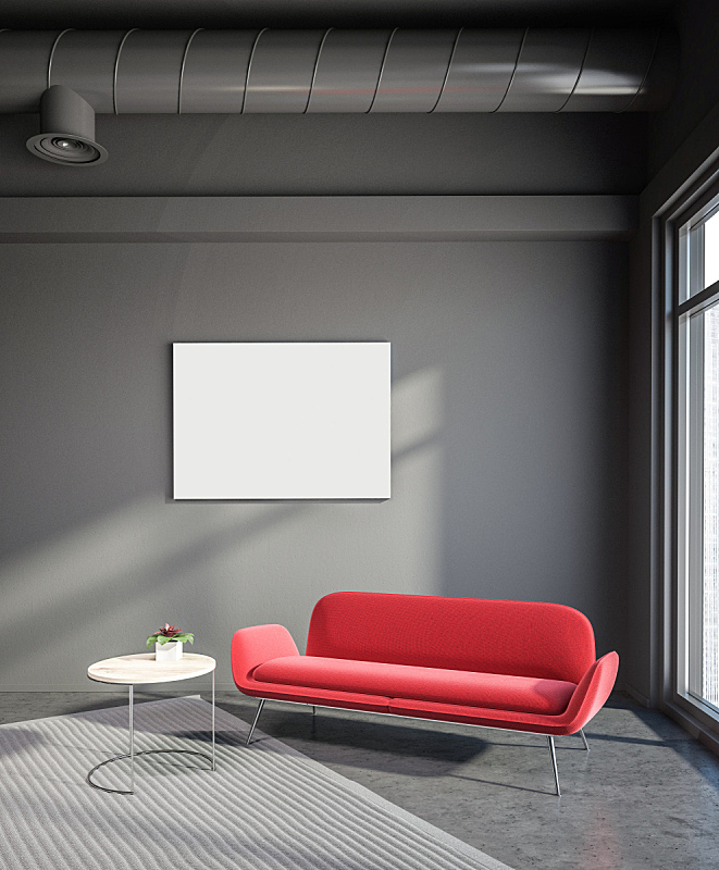 沙发,工业,起居室,红色,高雅,空的,华贵,舒服,椅子