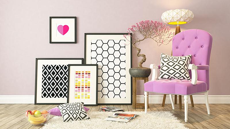 装饰物,粉色,背景,黑色,画框,画廊,绘画艺术品,建筑结构,艺术