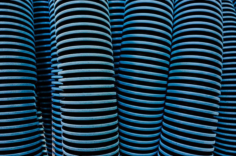 软管,蓝色,塑胶,白色,瓦楞铁,式样,聚酯,水平画幅,无人,抽象