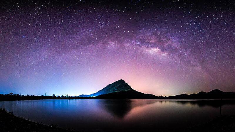 星系,夜晚,泰国,山,地形,银河系,长时间曝光,暗色,背景,光