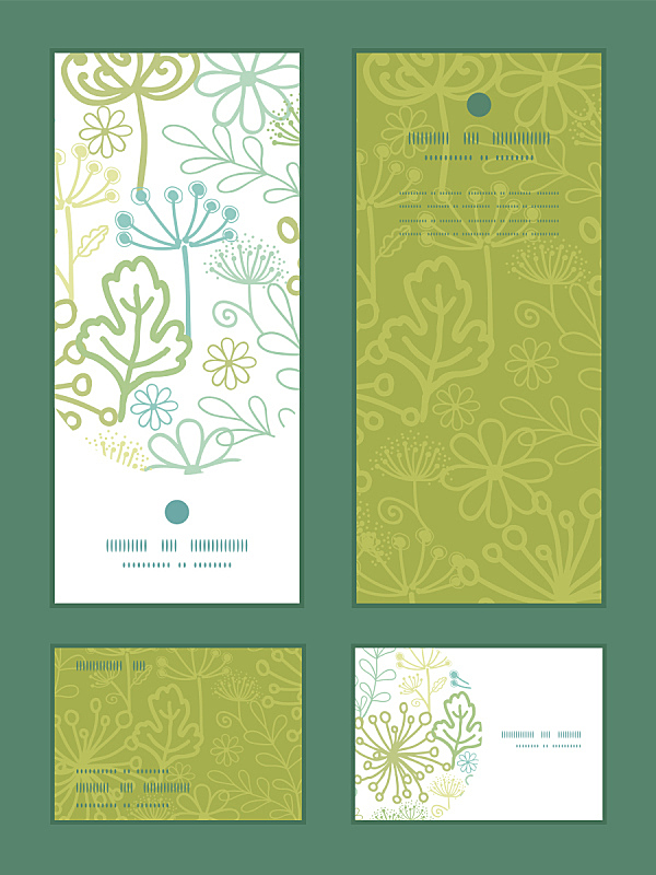 请柬,边框,垂直画幅,矢量,式样,菜园,秘密,绿色,华丽的,菜单