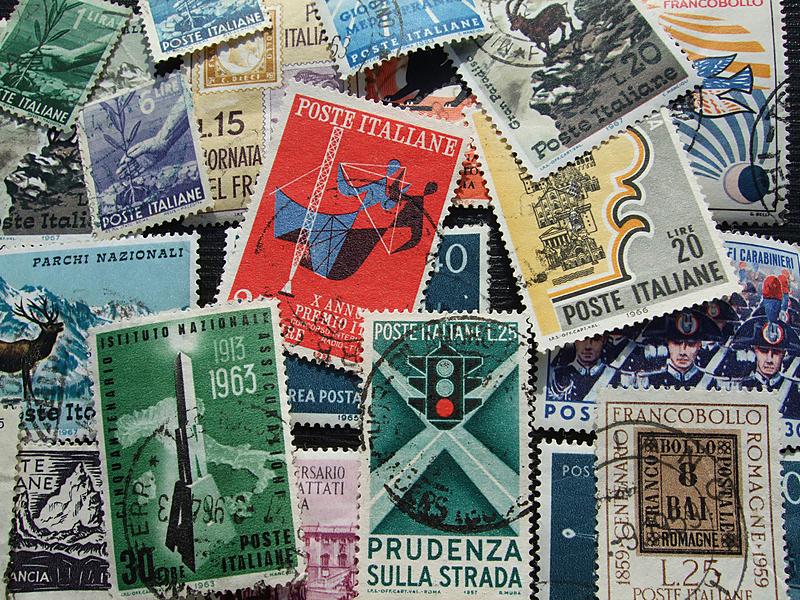 意大利,航空邮件,水平画幅,彩色图片,邮件,无人,文档,摄影
