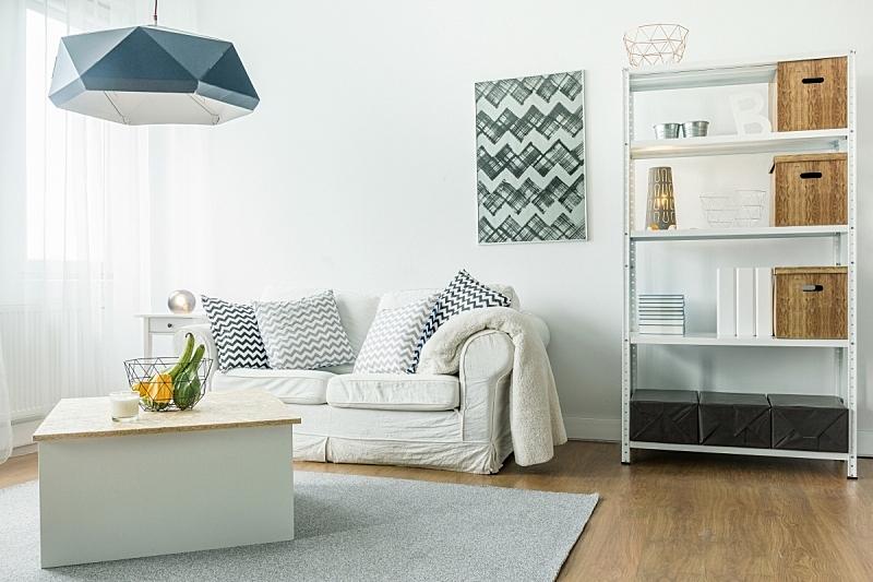 住宅房间,小的,舒服,起居室,水平画幅,无人,地毯,灯,家具,咖啡