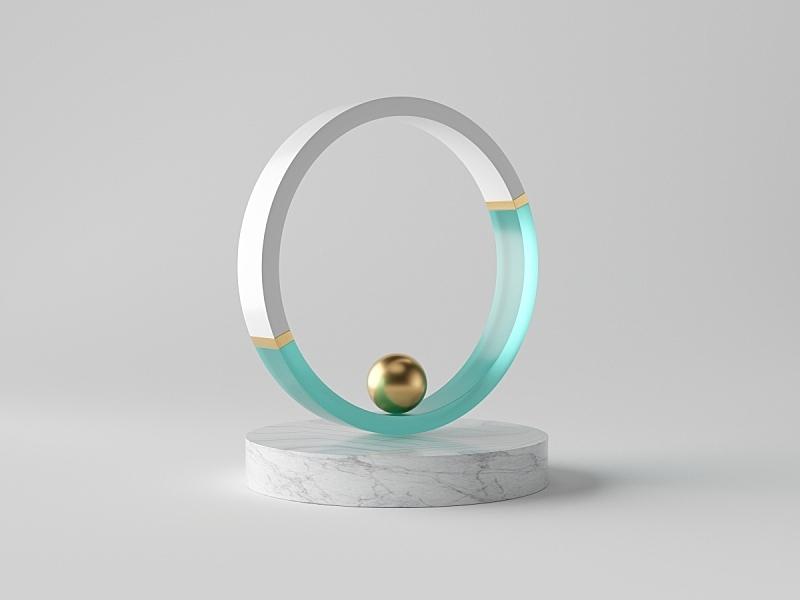 球体,三维图形,大理石装饰效果,极简构图,黄金,室内,抽象,复杂,分离着色,设计