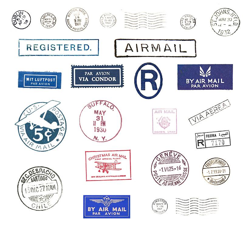 航空邮件,橡皮章,腓特烈斯哈芬,邮戳,秃鹰,费城,邮件,日内瓦,爱尔兰都柏林