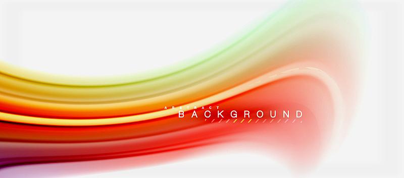 色彩鲜艳,彩虹,液体,背景,抽象,模板,计划书,缠绕,设计,演说