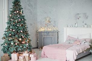 银色,粉色,卧室,可爱的,沙发,窗户,烟囱,乡村风格,壁炉