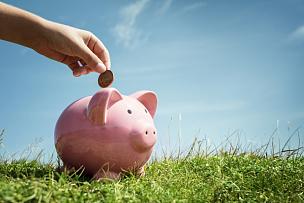 儿童,小猪扑满,手,救球,储蓄,小猪,存钱罐,退休金,银行,猪