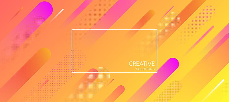 几何形状,式样,橙色,创造力,背景,点连成线,边框,艺术,水平画幅,形状