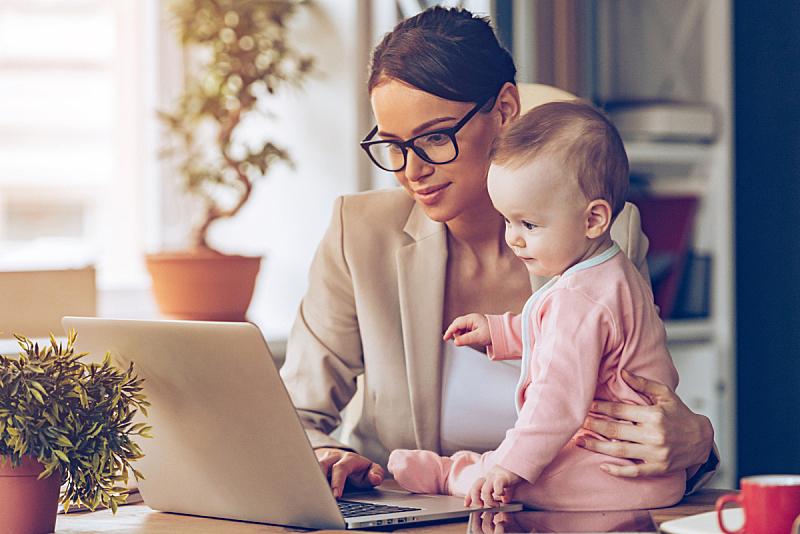智慧,套装,现代,青年人,专业人员,技术,计算机,女婴,儿童,正装