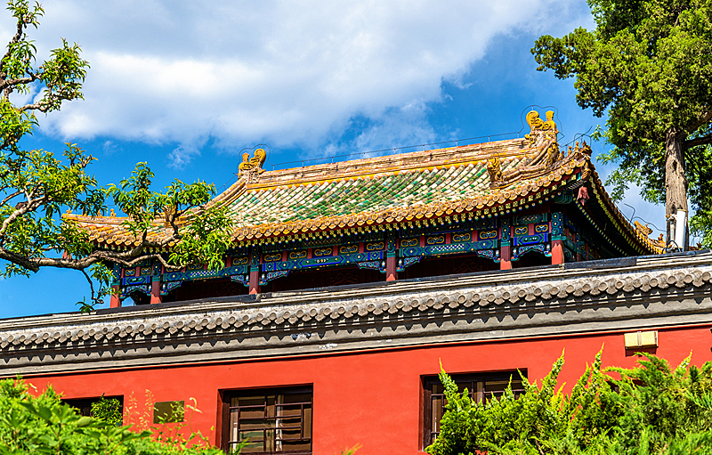 北海公园,亭台楼阁,北京,北海湖,明朝风格,天空,公园,水平画幅,古老的,禁止的