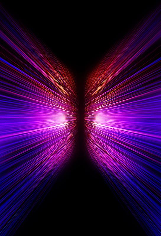霓虹灯,推拉镜头,背景聚焦,运动模糊,垂直画幅,留白,未来,无人,科学,光